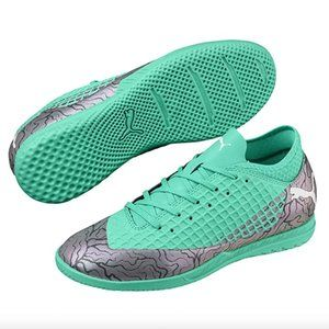 Green Puma Soccer Shoe Indoor Youth